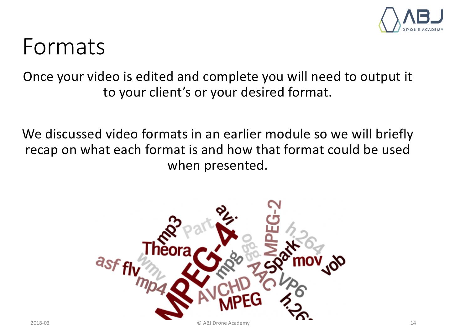 Understanding formats